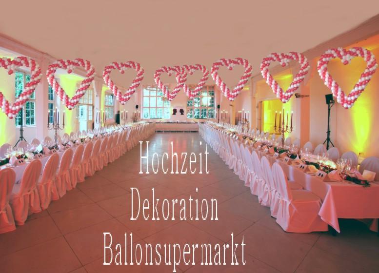 Luftballons hochzeit herzen zur hochzeitsdeko for Dekoration mit luftballons