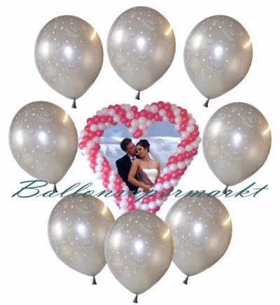Luftballons-Hochzeit-Just-Married-frisch-verheiratet-Silber-mit-Helium
