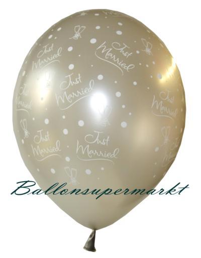 Luftballons-Hochzeit-Just-Married-frisch-verheiratet-Silber