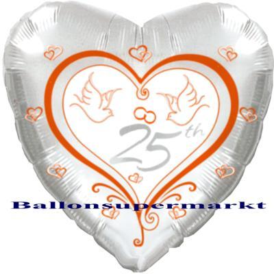 Hochzeitsballon-Silberhochzeit