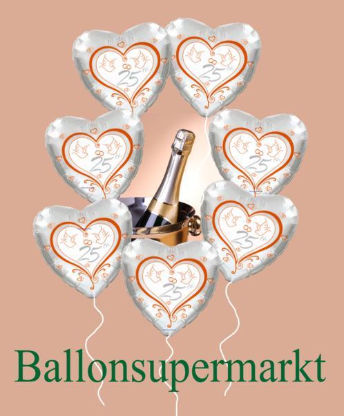 Luftballons Silberhochzeit